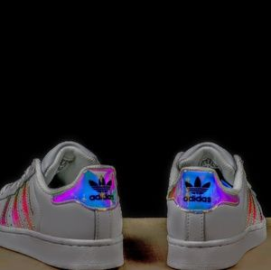 RARE! ADIDAS HOLOGRAPHIC IRIDESCENT SUPERSTAR SHOE